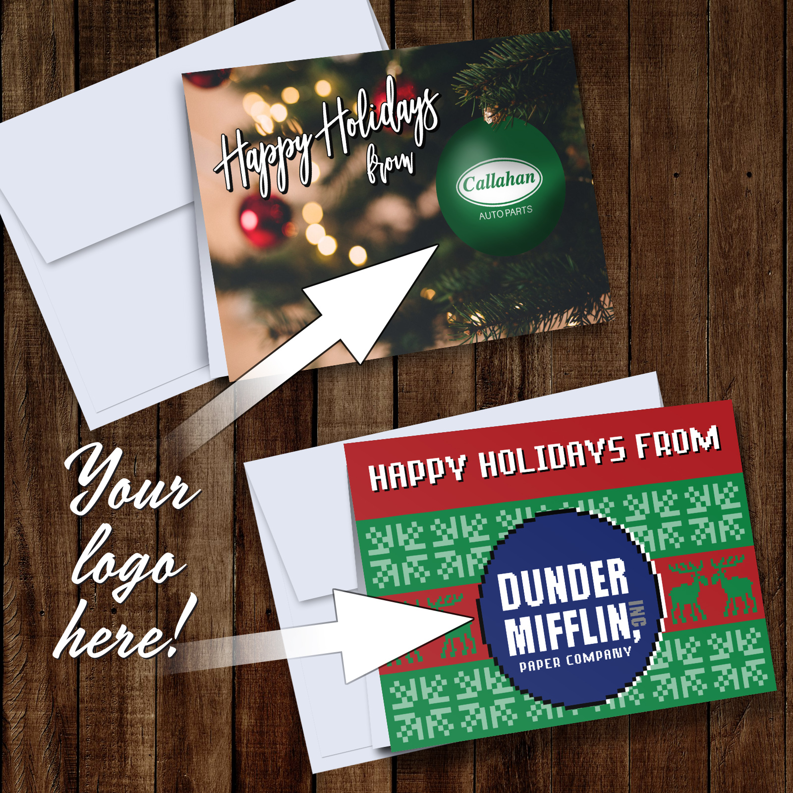 Custom Logo Christmas Cards Lemaster