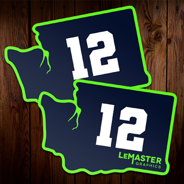 Custom 12 Stickers